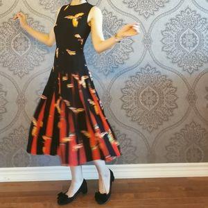 NWOT DVF Silk pleated dress